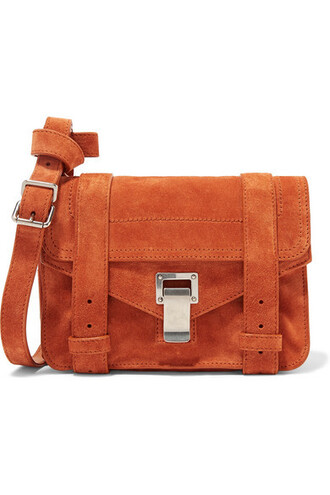 satchel mini suede camel bag