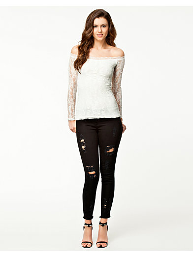 Off - Shoulder Lace Top - Notion 1.3 - Wit - Tops - Kleding - Vrouw - Nelly.com