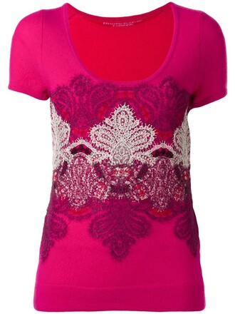 top knitted top women lace silk purple pink