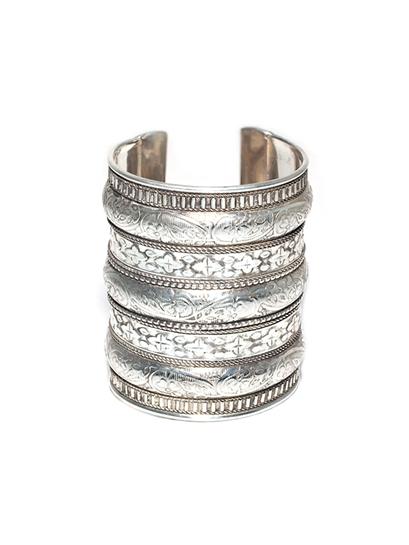Natalie B Azteca Cuff in Silver