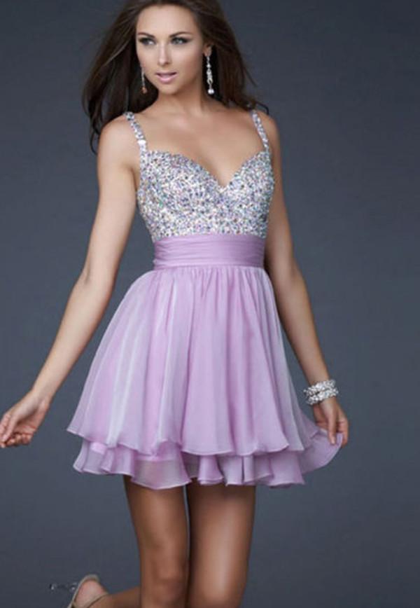 dress short dress lilac purple sequins silver coral dress