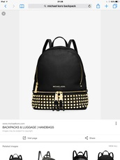 bag,michael kors,michael kors bag,backpack,black backpack