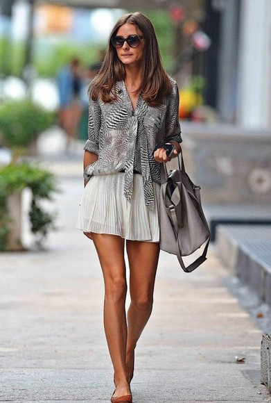blouse olivia palermo skirt fashion girl