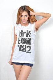 top,new tip,travis barker,blink 182,blink-182,hipster,punk rock,muscle tee,rock,t-shirt,tank top,starbucks coffee,logo