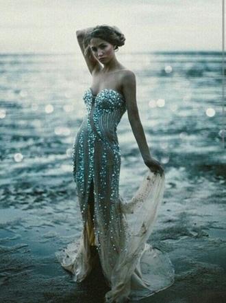 dress prom sequins glitter sequin dress glitter dress prom dress blue dress chiffon