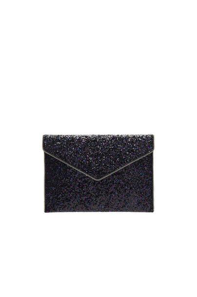 Rebecca Minkoff glitter clutch purple bag