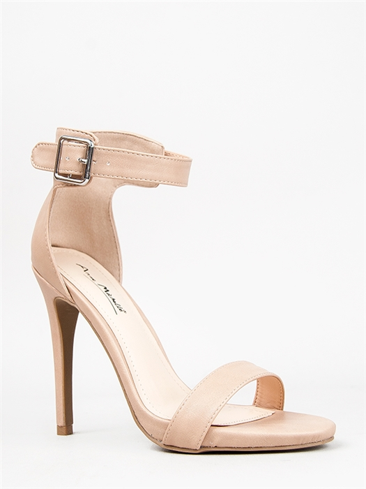 Nude High Heels With Strap
