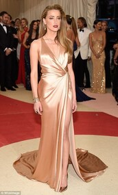 dress,amber heard 2016 met gala greek goddess style look celebrity dresses,evening dress,met gala,2016 met gala celebrity dresses,2016 met gala evening dresses,prom dress,party dress,greek goddess,sexy high side split formal dresses