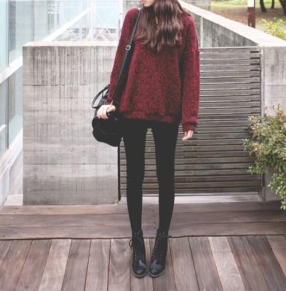burgundy sweater red dark red