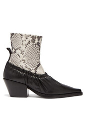 leather ankle boots,ankle boots,leather,white,black,shoes