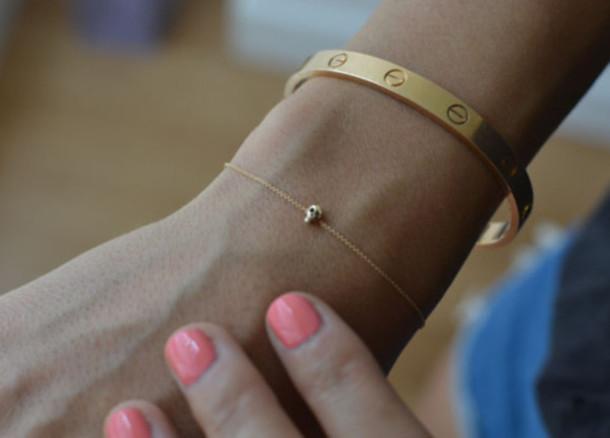 skull bracelets gold