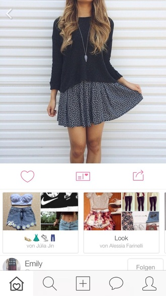sweater black style with skirt weheartit from weheartit