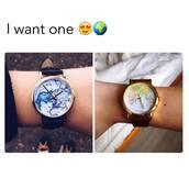 watch,world,fancy,horloge,map print