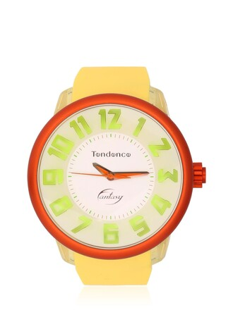 fantasy watch yellow orange jewels