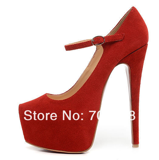 16cm red bottom high heels for woman pump sandals genuine leather platform shoes brand women designer wedding shoes wedges-in Pumps from Shoes on Aliexpress.com