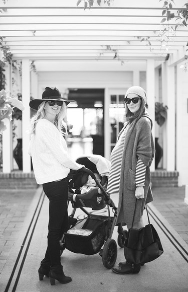 stripes blogger bag sunglasses could i have that cardigan scarf felt hat maternity