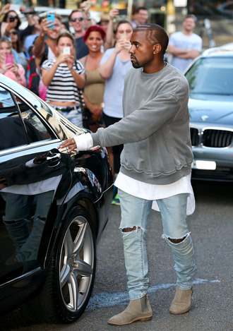 kanye west hip hop rapper style grey fitness american apparel nyca menswear