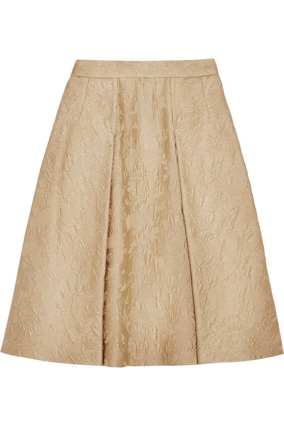 Dolce & Gabbana Pleated cotton and silk-blend jacquard skirt – 50% at THE OUTNET.COM