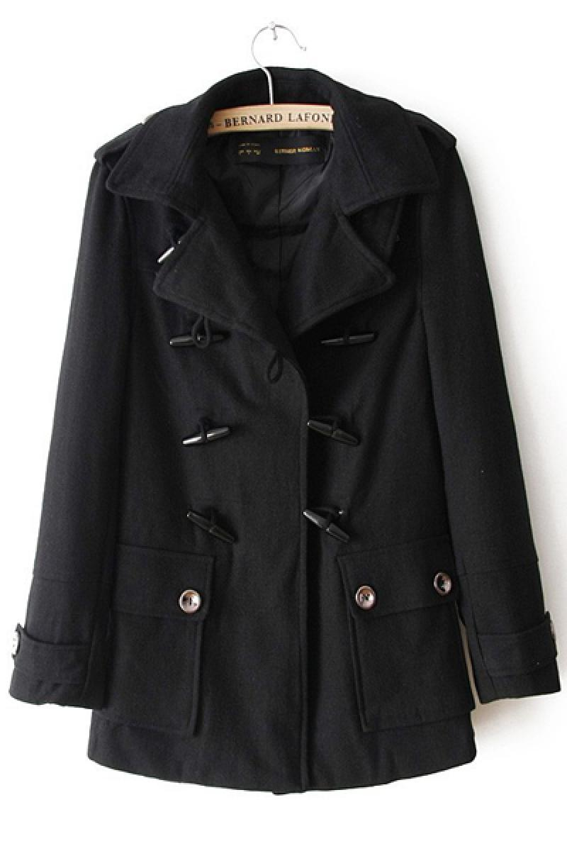 Bullet Double-breasted Women Woolen Overcoat,Cheap in Wendybox.com
