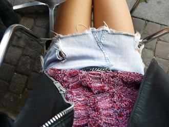 denim skirt skrit light blue cut off skirt mini skirt skirt