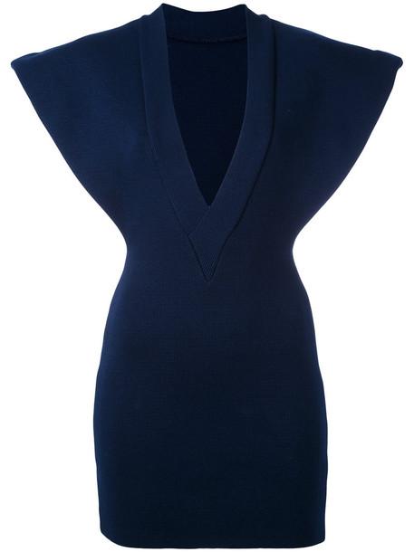 Jacquemus dress women cotton blue