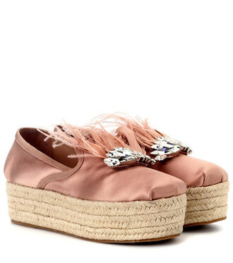 loafers satin pink shoes