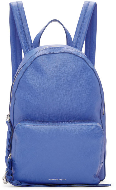 Alexander Mcqueen backpack blue bag