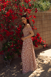dress,tumblr,floral,floral dress,maxi dress,long dress,off the shoulder,off the shoulder dress,kayture,kristina bazan,blogger,spring outfits,spring dress