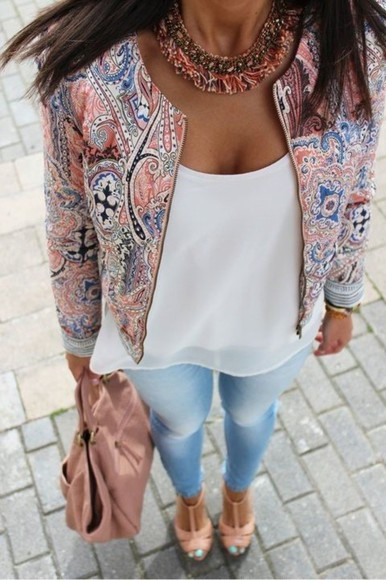 spring jacket colorful