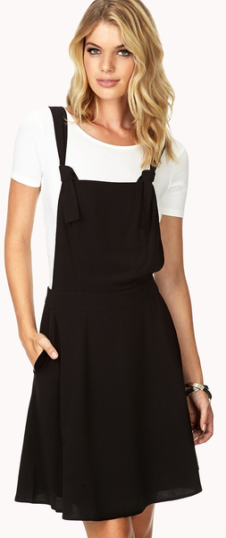 bb69e2ce8ca Forever 21 Sleek Skater Overall Dress in Black