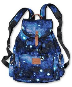 Amazon.com: Victoria's Secret PINK School Handbag Backpack Book Bag Tote - Celestial Blue Galaxy: Clothing