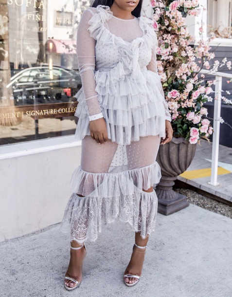 dress ruffle dress
