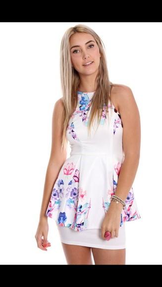 floral dress peplum dress floral