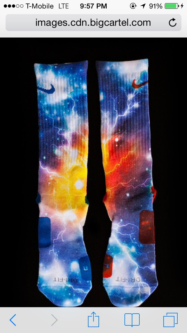 socks elite galaxy print