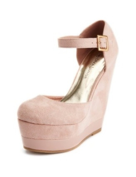 pink pastel shoes high heels wedges pink high heels pink wedges sea of shoes cute pastel pink