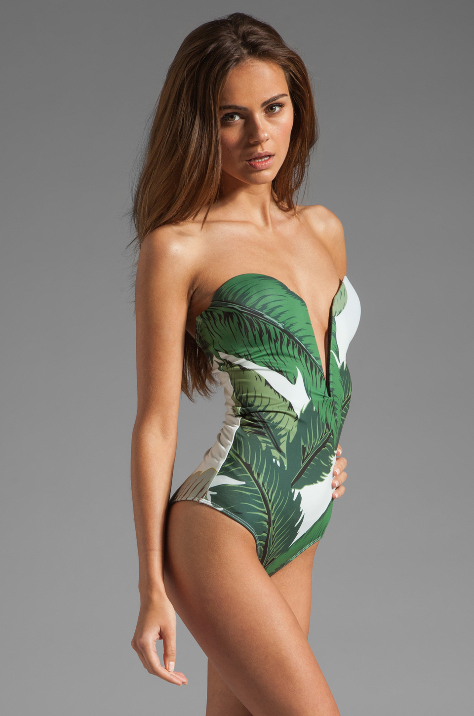 BEACH RIOT // STONE_COLD_FOX Gally Cook One Piece in Palm Print | REVOLVE