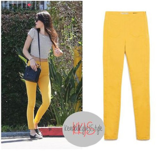kendall jenner top crop tops pants