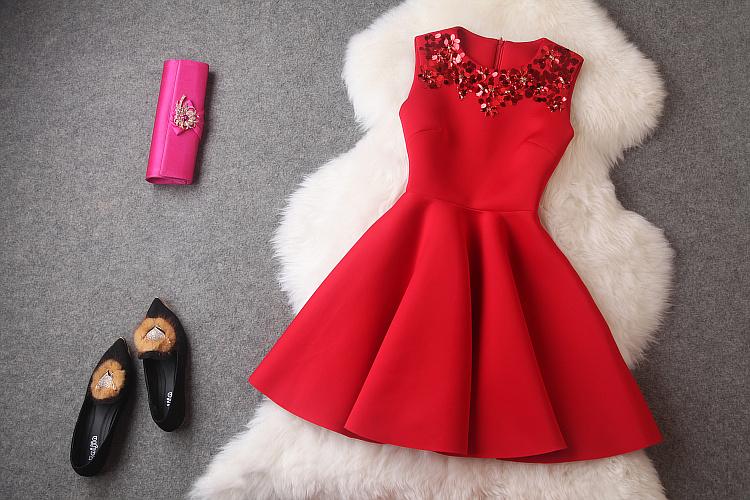 Red short summer dresses 2015