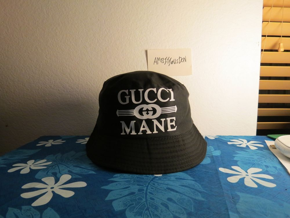Very Rare Gucci Mane Bucket Hat Black 40oz trill crusher ape scale trap bathing