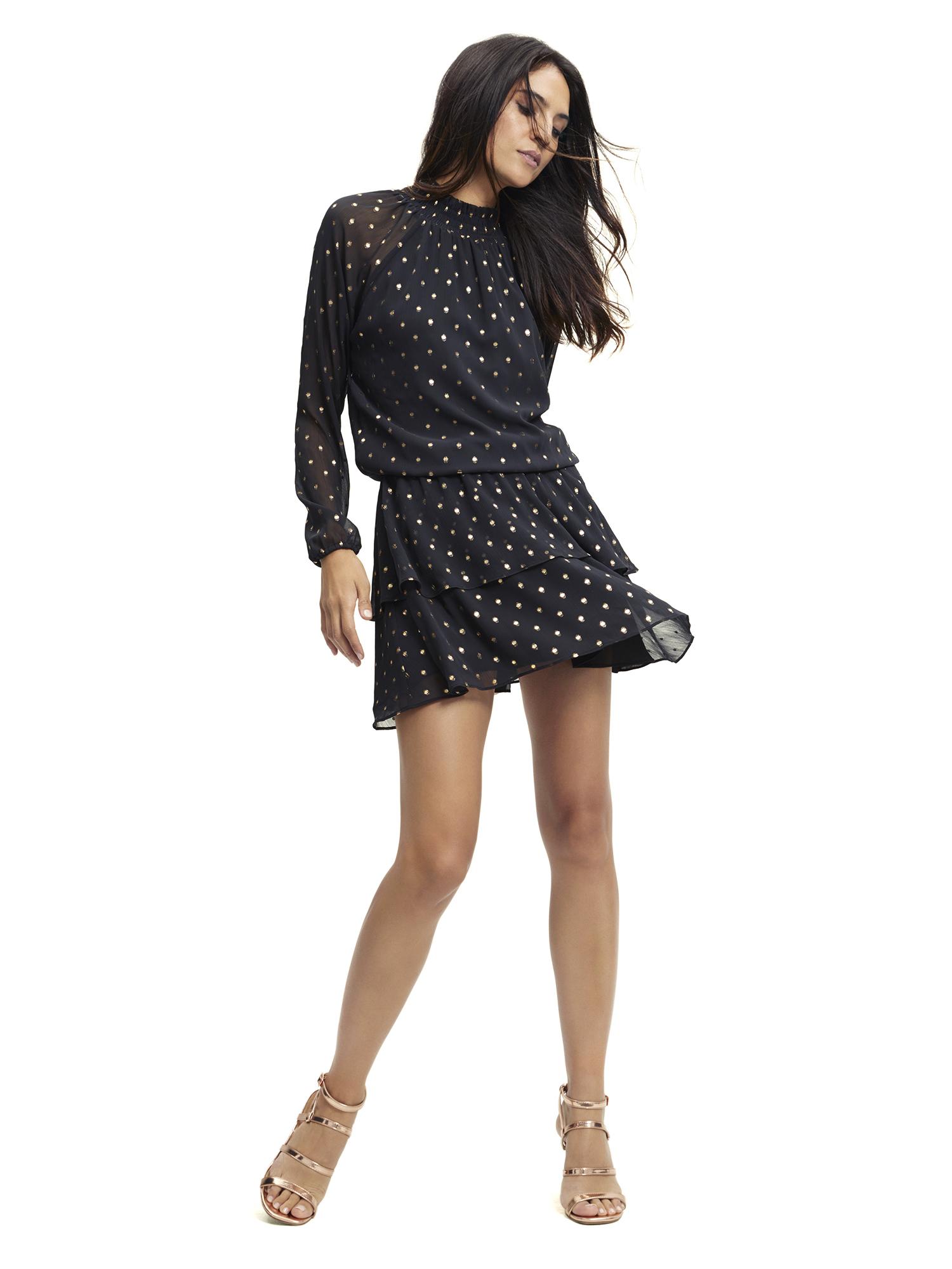 Scoop - Scoop Women's Foil Dot Print Dress - Walmart.com