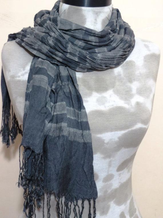 Men Scarf Grey. Fabric Scarf Fashion Men Accessory by MenAccessory