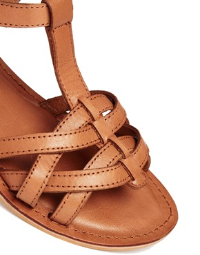 ASOS | ASOS FLIGHTPLAN Leather Flat Sandals at ASOS