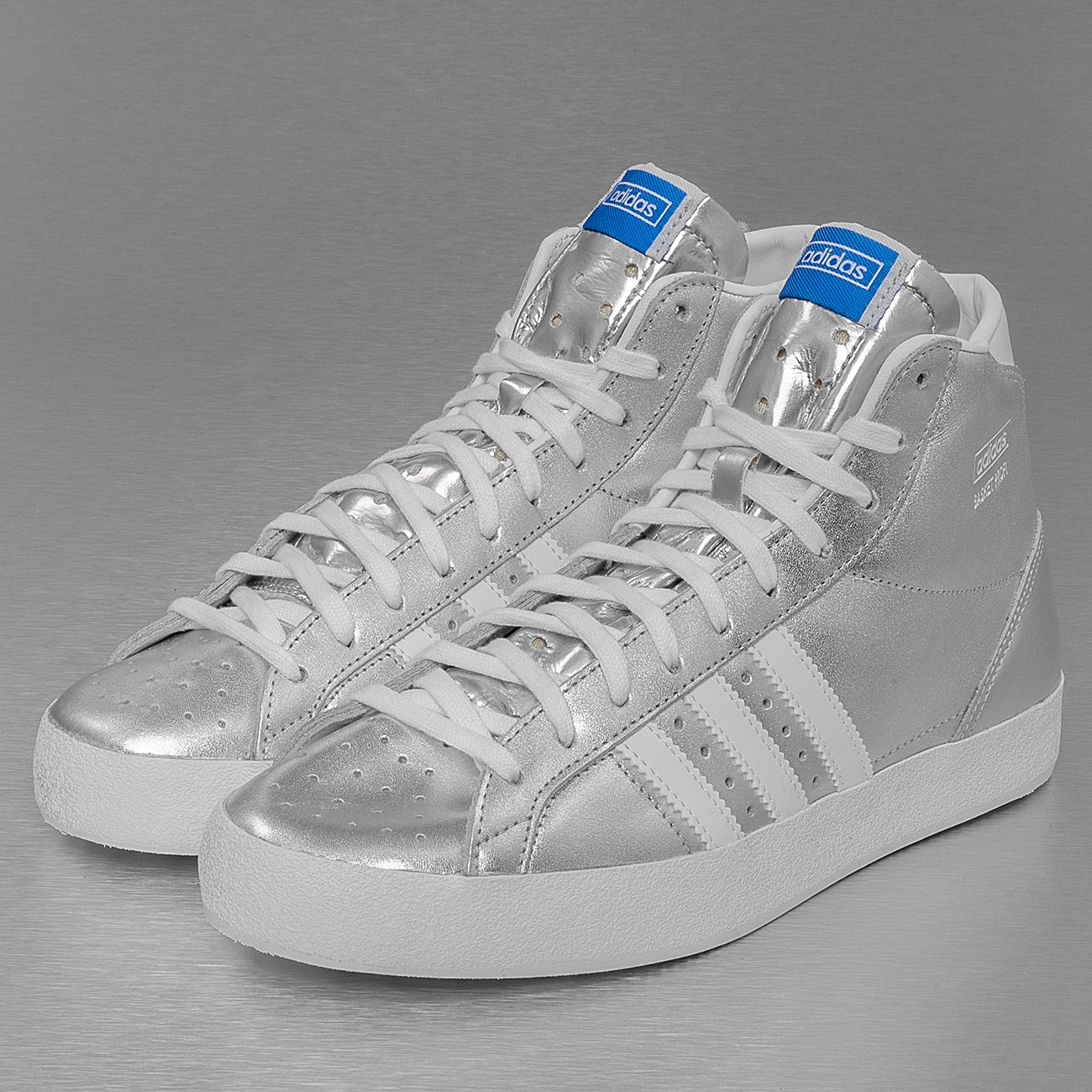 Adidas Basket Profi Basketball Shoes Metallic Silver/Running White