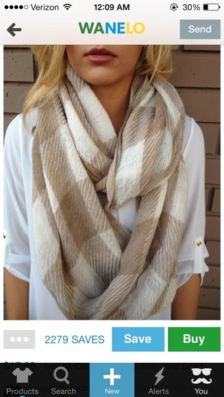 cream white scarf plaid oatmeal dainty hooligan