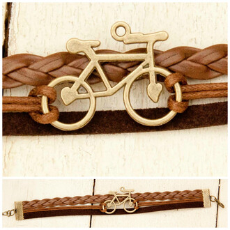 jewels braided bracelet vegan leather bracelet charm bracelet bike hipster trendy accessory bracelets spring summer outfits