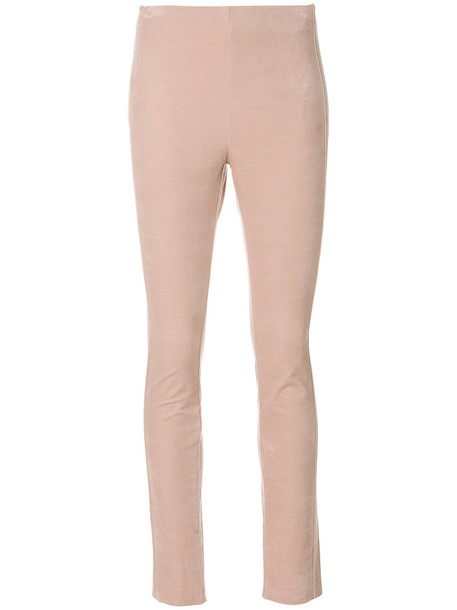 theory women spandex fit cotton purple pink pants