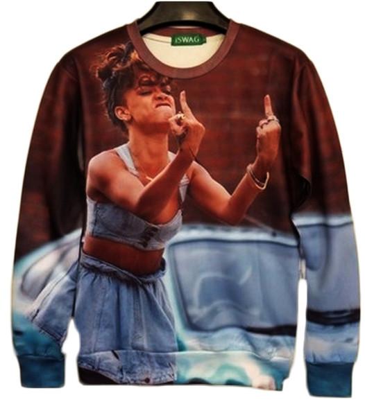 rihanna sweater fuck off