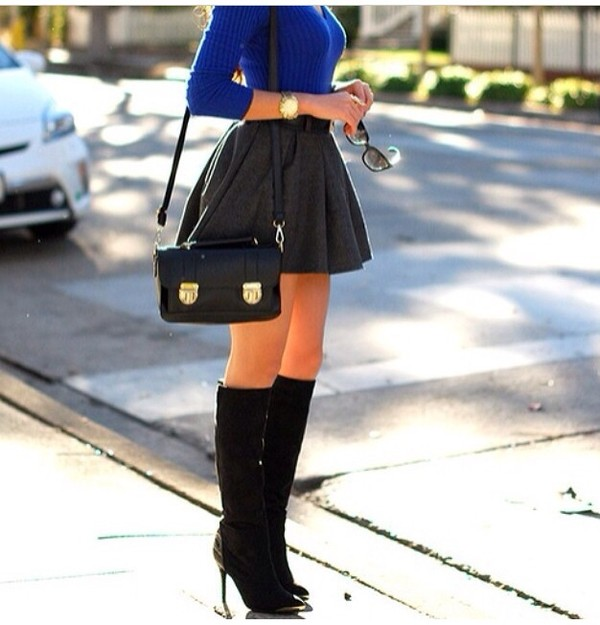 skirt bag shirt belt jewels shoes