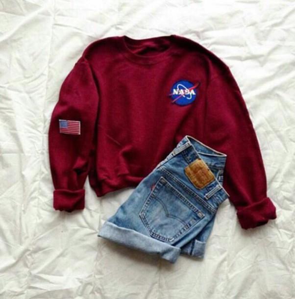 d9a59b67a Sweaters Sweatshirts Woman : NASA Sweatshirt Long