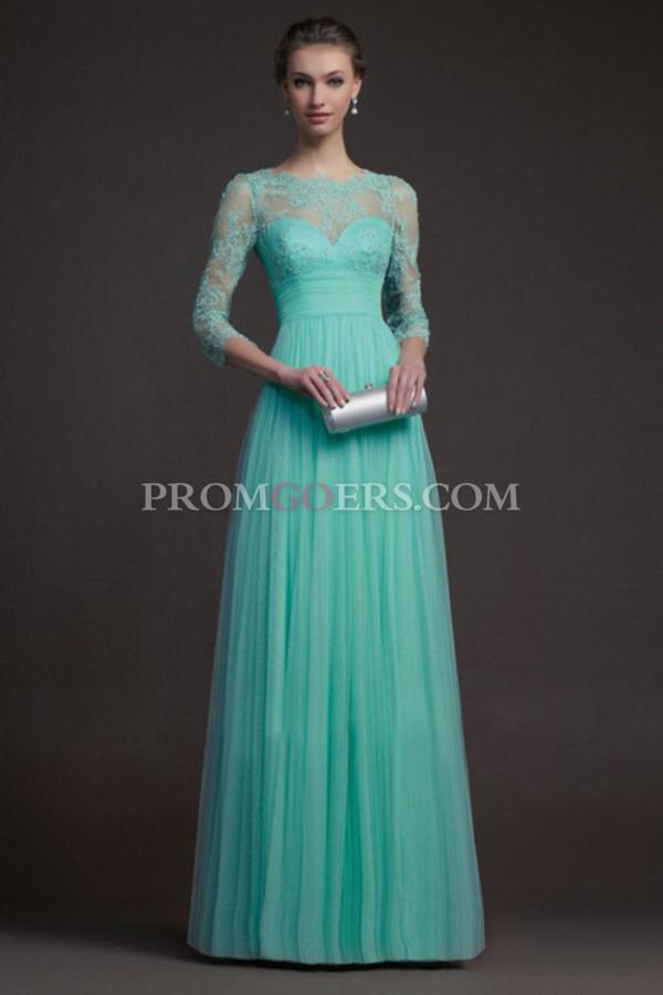 dress, lace prom dress, long sleeve prom dress, chiffon prom dress ...